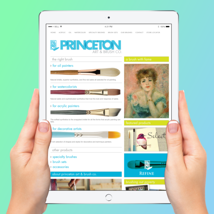 Princeton Art & Brush Co Website